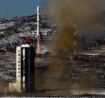 Start rakiety Chang Zeng-4B (Ministerstwo Obrony Chin)