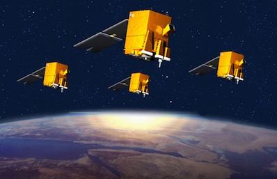 Satelity ELISA - wizualizacja / Credits: Astrium