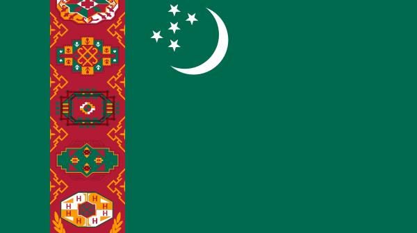 Flaga Turkmenistanu / Credits: WikiCommons
