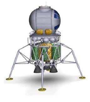 Koncepcja małego księżycowego lądownika wielokrotnego użytku / Credits - NASA, Boeing