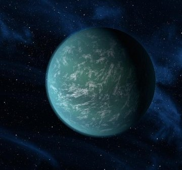 Wizja artystyczna egzoplanety Kepler-22b / Credits - NASA/Ames/JPL-Caltech