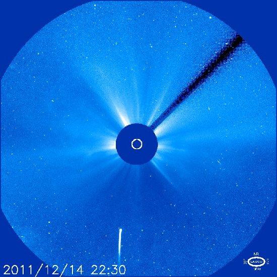 Obraz z 23:30 CET z dnia 14 grudnia 2011 / Credits - NASA, ESA, SOHO