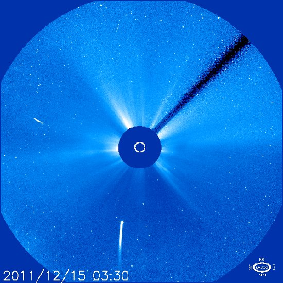 Obraz z godziny 04:30 CET / Credits - NASA, ESA, SOHO