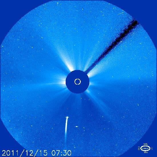 Stan na godzinę 08:30 CET / Credits - NASA, ESA, SOHO