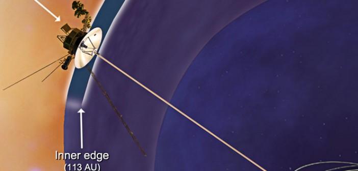 Szkic obszaru, w którym obecnie znajduje się Voyager 1 / Credit – NASA/JPL