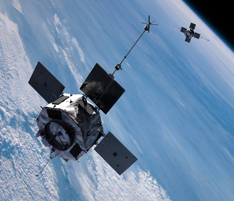 RBSP po rozdzieleniu się i rozłożeniu paneli ogniw słonecznych / Credits: NASA