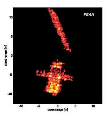 Radarowy obraz satelity Enivsat wykonany za pomocą radaru TIRA / Credits: FGAN