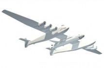 Wizualizacja samolotu oraz rakiety / Credtis: Stratolaunch Systems