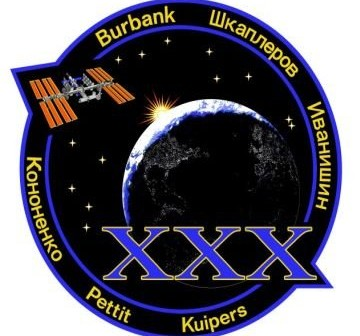 Patch Ekspedycji 30. na ISS / Credits - NASA, RSA