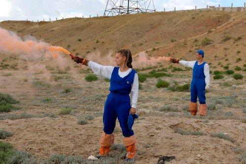 Jelena Sierowa w trakcie treningu kosmonautycznego / Credits - RSA