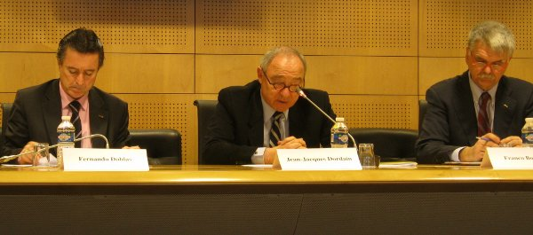 Jean-Jacques Dordain explains ESA's goals for 2012. Picture from 9th of January 2012 / Credits - K. Kanawka, kosmonauta.net