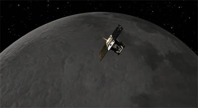 Wizualizacja sondy Grail / Credits: NASA