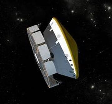 MSL Curiosity w trakcie lotu międzyplanetarnego - wizja artystyczna (Credits: NASA)
