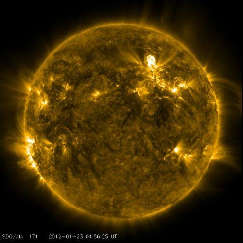Dwie minuty przed fazą maksymalną rozbłysku / Credits - NASA, SDO