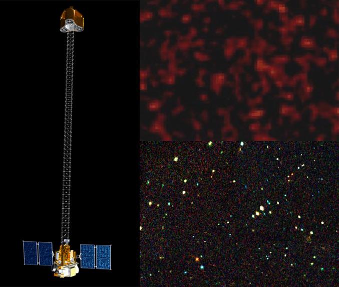 Porównanie jakości obecnych danych (u góry) i założonej, 500 razy lepszej, jakości danych z NuSTAR (na dole) / Credits: NASA