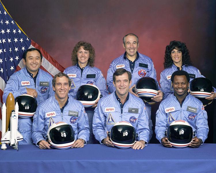 Załoga Challengera w tragicznym locie STS-51-L / Źródło: NASA