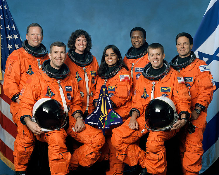 Załoga Columbii podczas tragicznego lotu STS-107 / Źródło: NASA