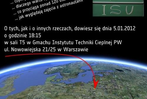 Plakat dotyczący prezentacji w dniu 5 stycznia 2012 / Credits - Maciej Urbanowicz
