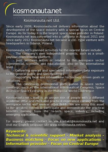 Our informational leaflet - January 2012 version / Credits - Kosmonauta.net