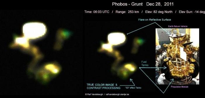 Fobos-Grunt sfotografowany z Ziemi 28 grudnia 2011 / Credits: Ralf Vandebergh