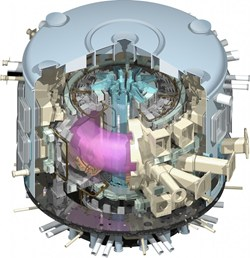 Przekrój tokamaka ITER / Credits: ITER
