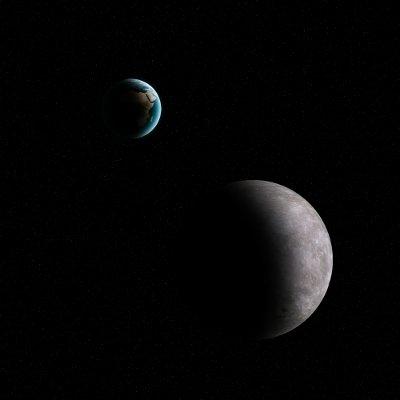 Obszar pomiędzy Ziemią a Księżycem często naruszają małe obiekty Układu Słonecznego / Credits - K. Kanawka, kosmonauta.net