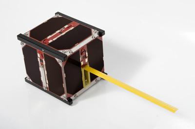 Model lotny satelity Masat-1 / Credits - Dávid Czifra, Masat-1