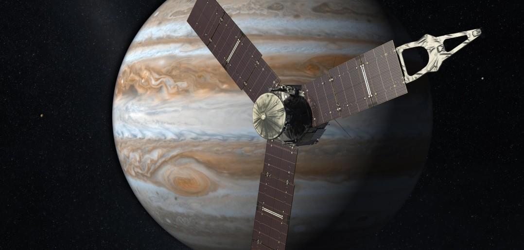 Artystyczna wizja sondy Juno w pobliżu Jowisza / Credits: NASA