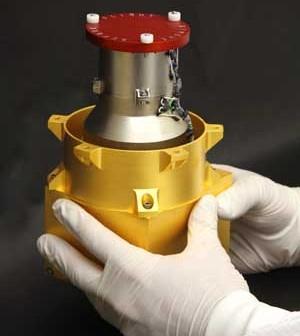 Instrument Radiation Assessment Detector (RAD) łazika Curiosity. Jego pomiary promieniowania kosmicznego i słonecznego w trakcie lotu na Marsa przysłużą się przyszłym załogowym misjom kosmicznym. (Image Credits: Southwest Research Institute)