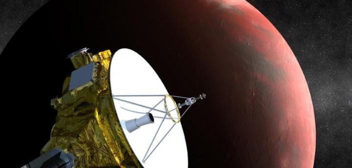 Sonda New Horizon w pobliżu Plutona / Credits: NASA
