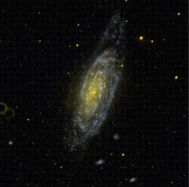 Galaktyka NGC 3521 sfotografowana przez GALEX-a / Credits: NASA