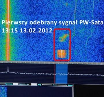 Pierwszy odebrany sygnał PW-Sata / Credits - Grzegorz Woźniak, CAMK