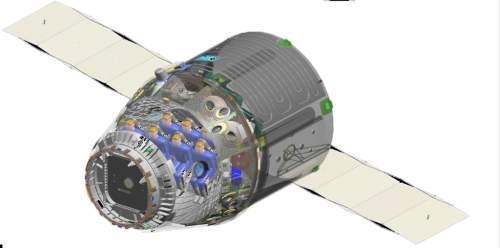 Schemat załogowej wersji statku Dragon / Credits: SpaceX