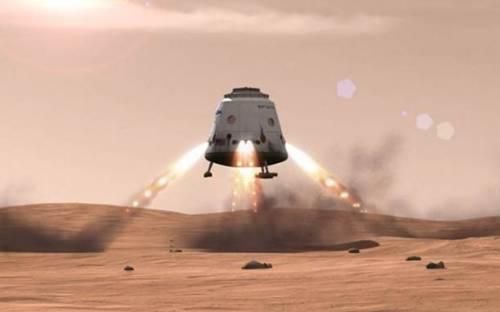 System ratunkowy opierający się na silnikach SuperDraco będzie jednocześnie systemem precyzyjnego lądowania na różnych obiektach w naszym Układzie Słonecznym / Credit: SpaceX