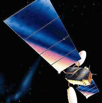 Satelita typu AS2100, do którego należą statki AMC-1, -2 i -3 / Credits: Lockheed Martin