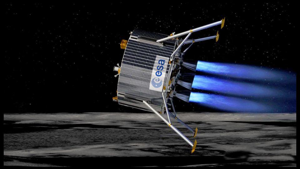 MoonNext w trakcie podchodzenia do lądowania / Credits: ESA