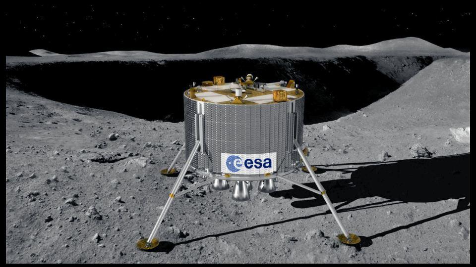 ESA Lunar Lander (MoonNext) na powierzchni Księżyca / Credits: ESA