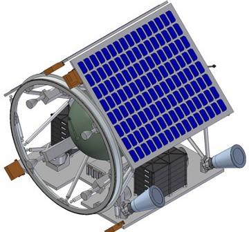 Projekt sondy ESMO (bez osłon termicznych) / Credits - SSTL