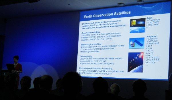 Jeden ze slajdów opisujących chiński program kosmiczny / Credits - K. Kanawka