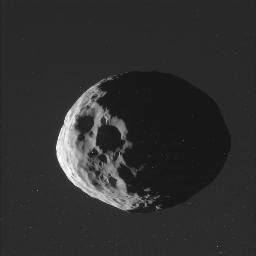 Janus sfotografowany 27 marca przez sondę Cassini / Credits: NASA-JPL-SSI