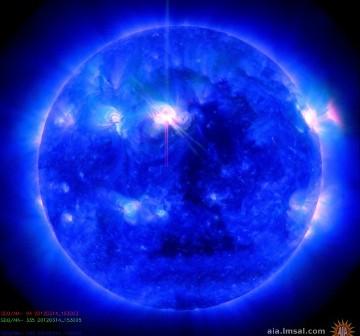 Tuż po fazie maksymalnej rozbłysku z 14 marca 2012 / Credits - NASA, SDO