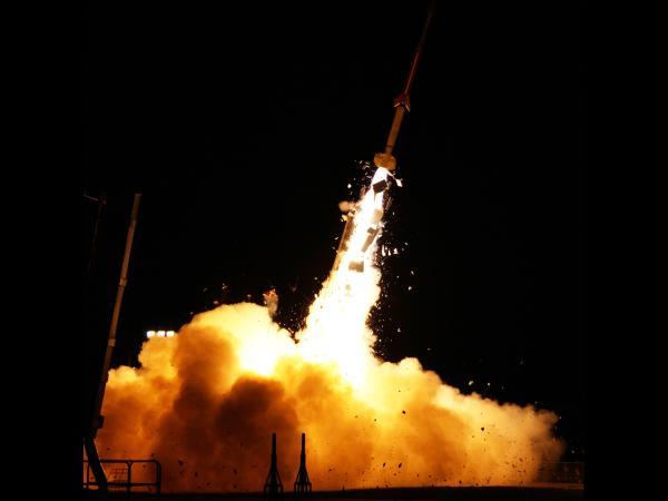 Start jednej z rakiet eksperymentu ATREX / Credits: NASA