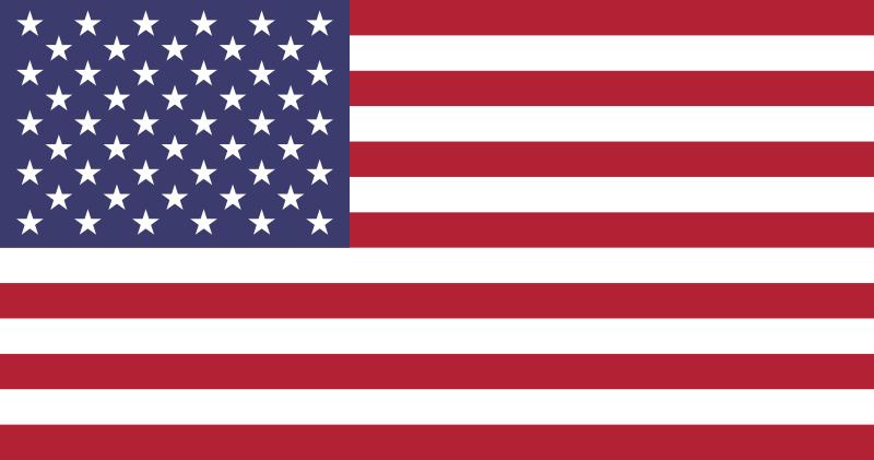 Flaga Stanów Zjednocznych / Source: WikiCommons, Licence: Public Domain, Authors: Dbenbenn, Zscout370, Jacobolus, Indolences, Technion