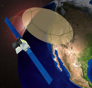 MEXSAT-1 - wizualizacja / Credits: Boeing