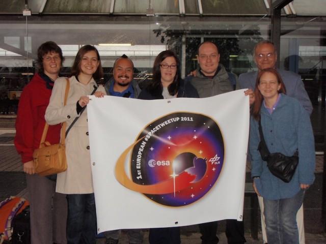 Uczestnicy pierwszej edycji ESA Tweetup/Credits: ESA