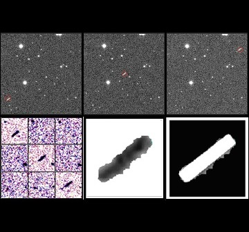 Obrazy uzyskane podczas detekcji 2012 DA14 / Credits - Jaime Nomen, La Sagra Observatory