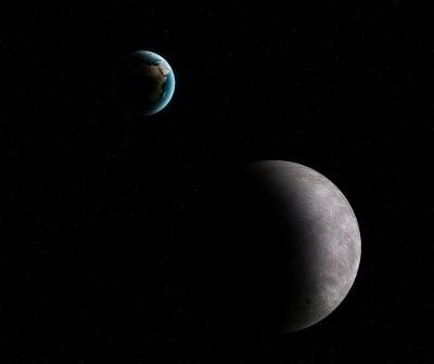 Pomiędzy Ziemią a Księżycem dość często przemykają małe planetoidy / Credits - K. Kanawka