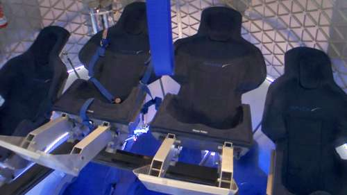 Wnętrze kapsuły / Credit: SpaceX