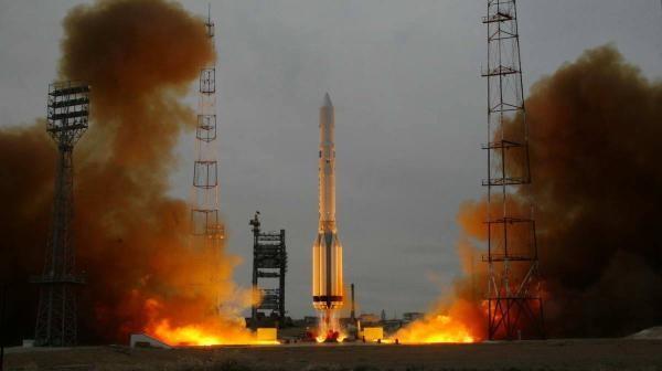 Ostatni start rakiety Proton K / Credits: Roskosmos