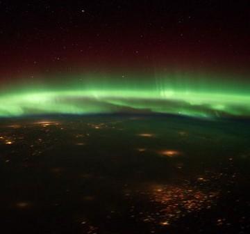 Zorza polarna z pokładu ISS. Zdjęcie z 25 stycznia 2012. / Credits - NASA